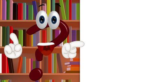 Funny Cartoon question mark info information symbol Stock Video Footage