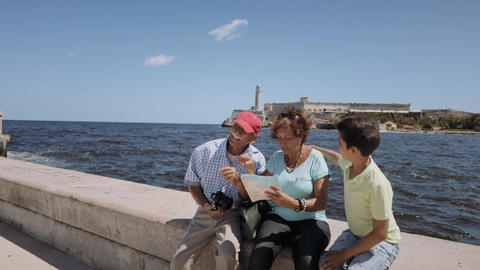 6-Family Grandparents And Boy Vacations In Havana Cuba Steadicam Footage