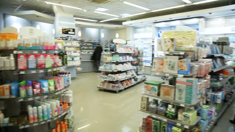 Drugstore,cosmetics and healthcare interior ビデオ