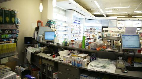 Drugstore,cosmetics and healthcare interior Footage