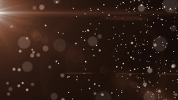 4K Golden Blurred Particles Falling Slowly Motion Background Animation