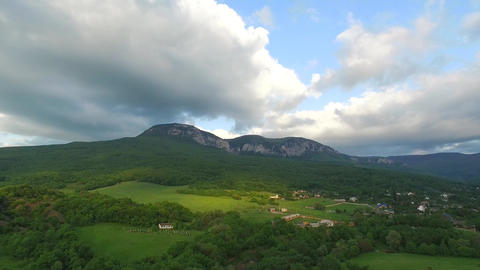 White Mountains With Trees On Hills Footage