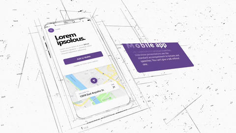 BluePrint Mobile Promo After Effects Template