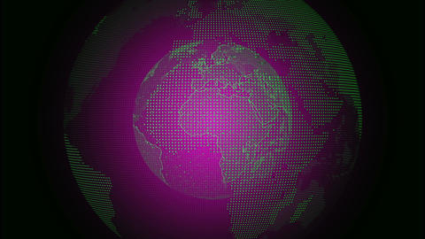 Digital planet Earth loopable animation Animation