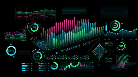 A set of decorative infographics Animation