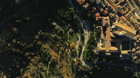 Aerial top down shot of Perugia. Italy GIF