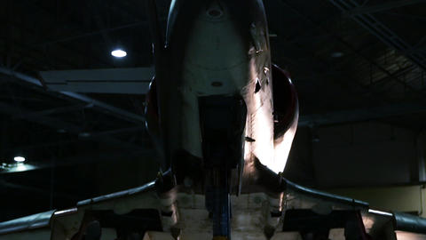 Fighter Plane Inside A Military Hangar Awaiting Deployment Live Action