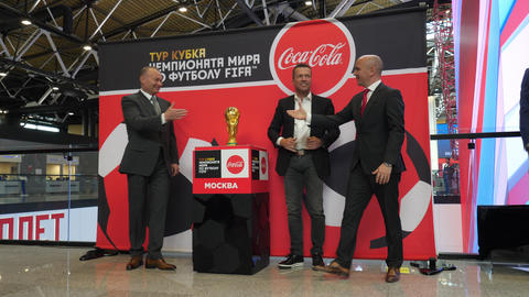 Meeting ceremony of FIFA World Cup Trophy is over, Russia Footage