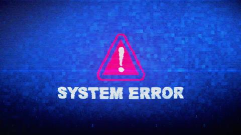 System Error Text Digital Noise Twitch Glitch Distortion Effect Error Animation Live Action