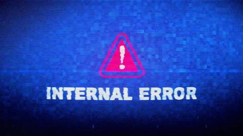 Internal Error Text Digital Noise Twitch Glitch Distortion Effect Error Live Action