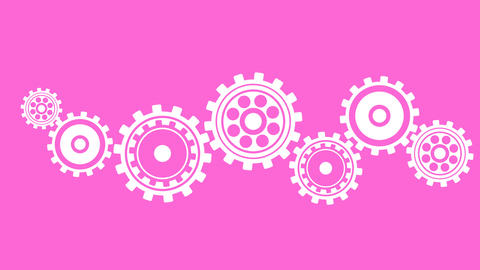Cogs and gears spinning animation Animation