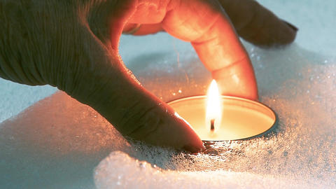 Preparation Of Bubble Bath With Candles Footage