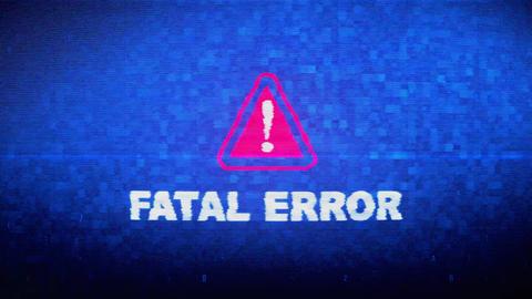 Fatal Error Text Digital Noise Twitch Glitch Distortion Effect Error Animation Live Action