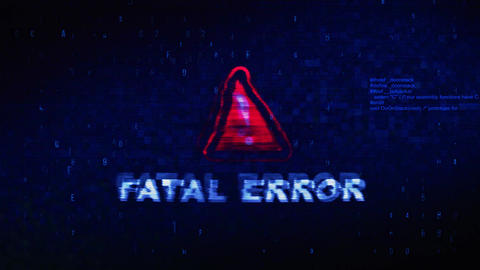 Fatal Error Text Digital Noise Twitch Glitch Distortion Effect Error Animation 실사 촬영