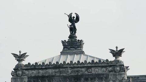 Argentine National Congress Facade. Cherub Detail Live Action