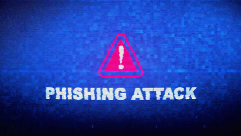 Phishing Attack Text Digital Noise Twitch Glitch Distortion Effect Error Loop Live Action