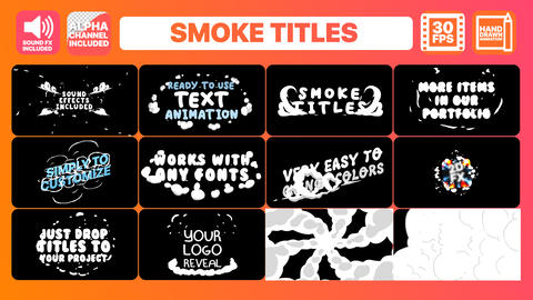 Smoke Titles After Effects Template