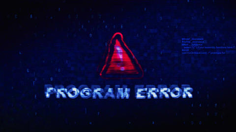 Program Error Text Digital Noise Twitch Glitch Distortion Effect Error Animation Live Action