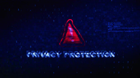 Privacy Protection Text Digital Noise Twitch Glitch Distortion Effect Error Footage