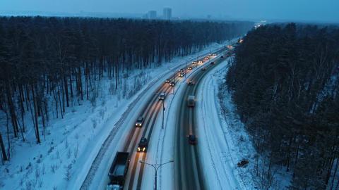 Morning Winter Road Archivo