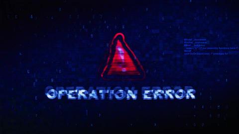 Operation Error Text Digital Noise Twitch Glitch Distortion Effect Error Live Action