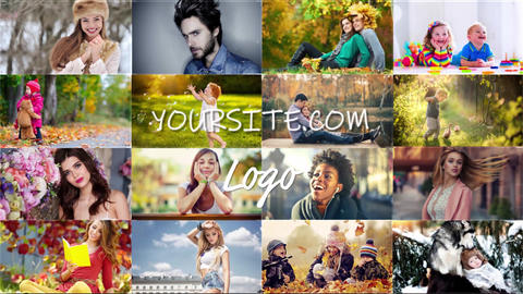 Grid Photo Slideshow After Effects Template