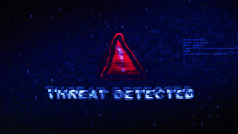 Threat Detected Text Digital Noise Twitch Glitch Distortion Effect Error Live Action