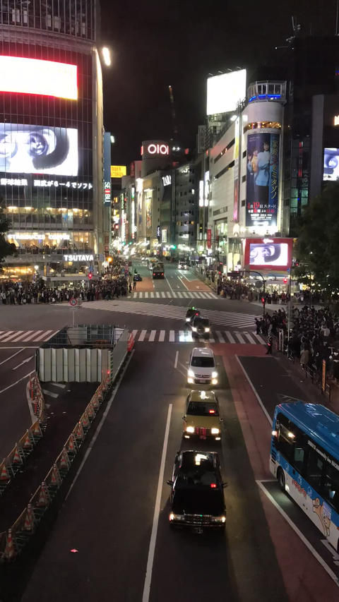 SHIBUYA CROSSING on Saturday night :Time lapse shot in... Stock Video Footage