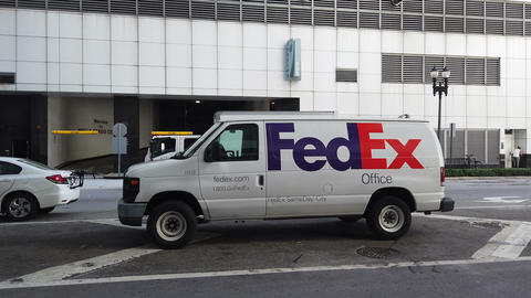 FedEX Delivery Van Footage