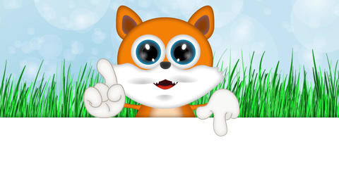 Marvin Cat Illustration Toon Cartoon Character Stock Video Footage