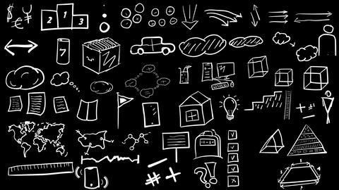 Hand-drawn elements and icons Animation