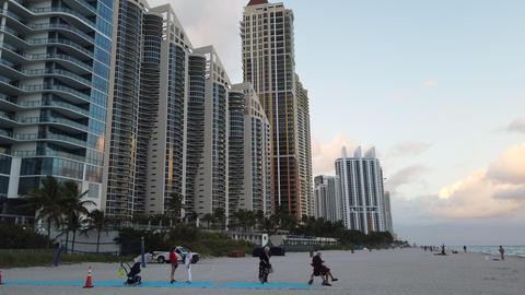 Beautiful View of Skyscrapers Of Sunny Isles Beach North Miami GIF