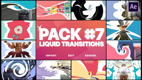 Liquid Transitions Pack 07 After Effects Template