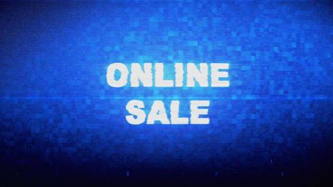Online Sale Text Digital Noise Twitch Glitch Distortion Effect Error Animation ビデオ