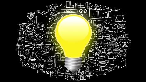 Light bulb on infographics background CG動画素材