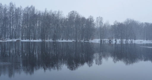 snowfall winter landscape Footage