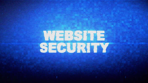 Website Security Text Digital Noise Twitch Glitch Distortion Effect Error Live Action