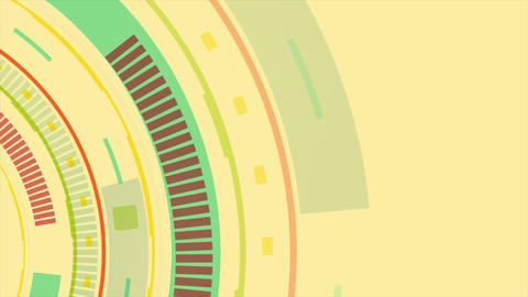 Tech colorful retro abstract gear video animation Animation