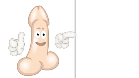Friendly penis cartoon comic funny illustration Animation
