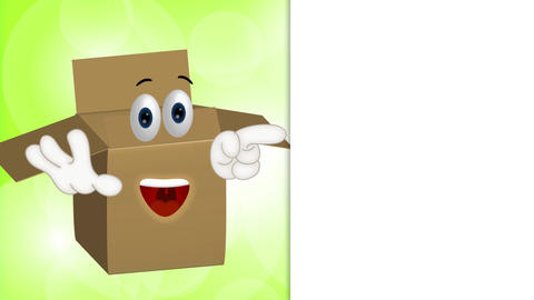 Funny parcel cartoon illustration shipping packet Animation