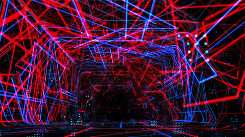 Laser Network Tunnel Light 05 CG動画素材