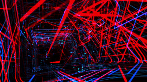 Laser Network Tunnel Light 04 CG動画素材