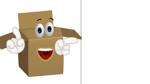 Funny parcel cartoon illustration shipping packet Archivo