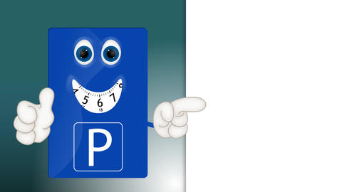Funny parking disk park fees charges costs cartoon illustration Footage