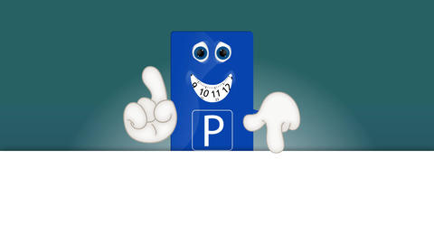 Funny parking disk park fees charges costs cartoon illustration Animation