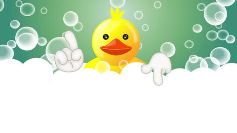 Funny squeaky duck rubber duck cartoon illustration Animation