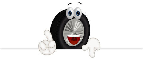 Funny tire cartoon tire service summer winter tires Animation