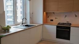Home interior walk throught kitchen.modern apartment GIF