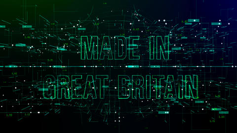 Digital space with 'Made in Great Britain' text Live Action