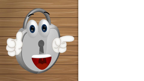 Funny padlock cartoon security illustration lock comic Animation